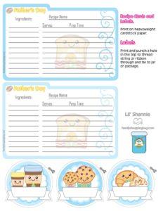 Recipe cards Fathers Breakfast
