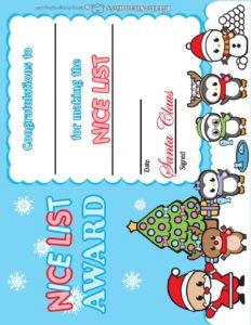 Santa Letter Award