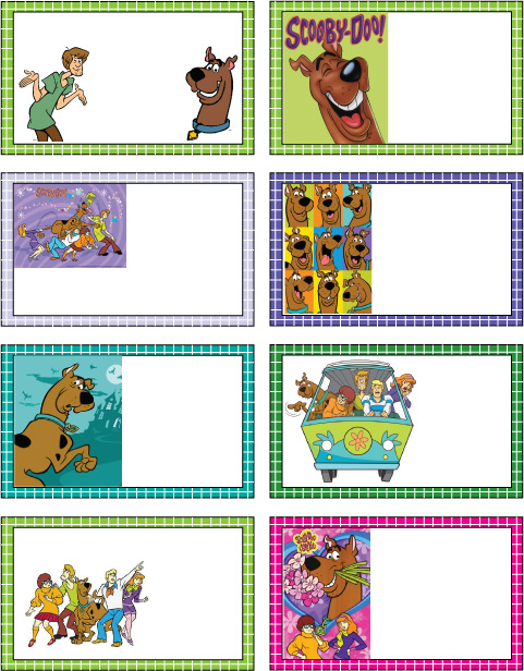 Scooby Doo Gift Tags