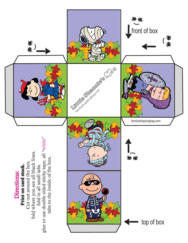 Small Box Peanuts Halloween