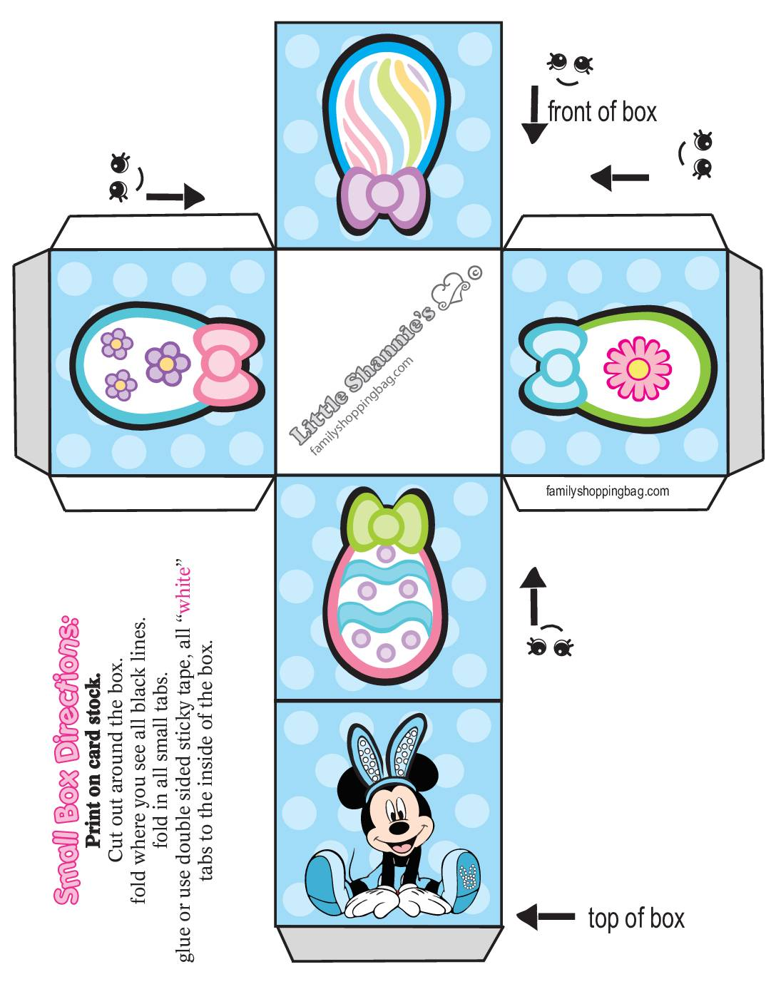 Small Favor Box Mickey Mouse Easter