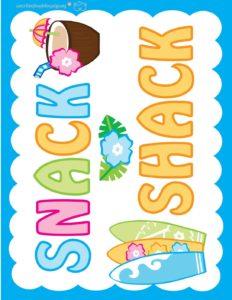 Snack Sign Luau