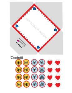 Spider Man Envelope Valentines