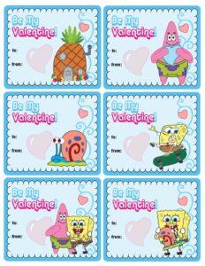 Spongebob Valentines