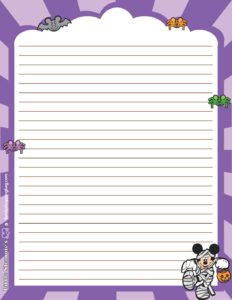 Stationery 2 Halloween Mickey