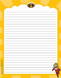 Stationery 2 Incredibles