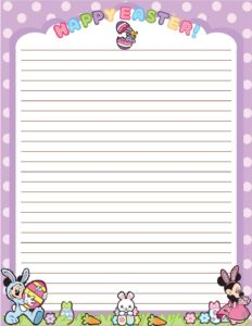 Stationery 2 Mickey Mouse Easter