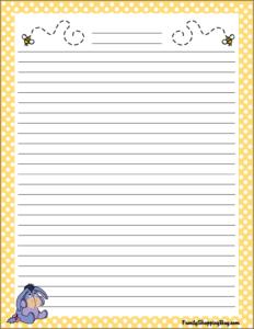 Pooh Stationery