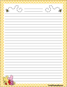 Winnie the Pooh Stationery
