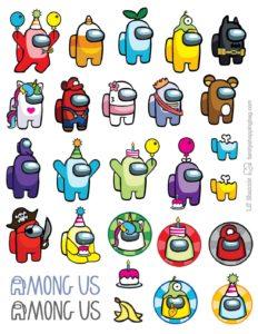 Stickers Among US