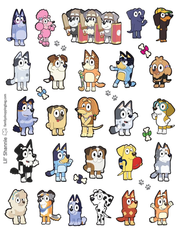 Stickers Bluey
