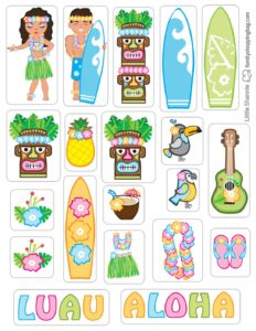 Stickers Luau