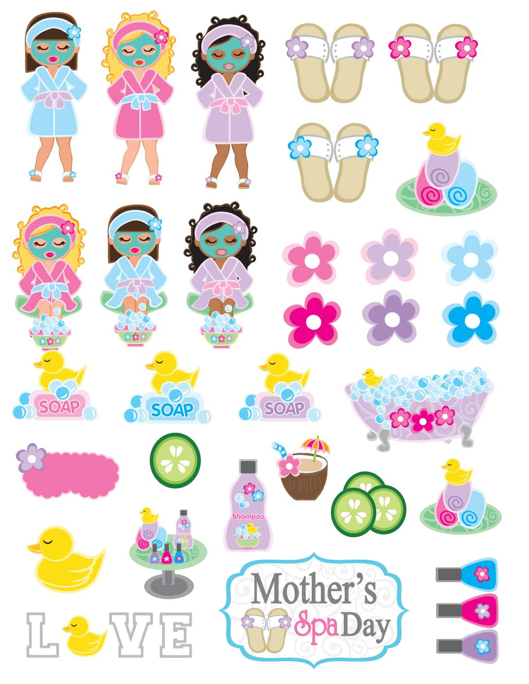 Stickers Moms Spa Day