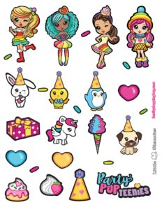 Stickers Party Pop Teenies