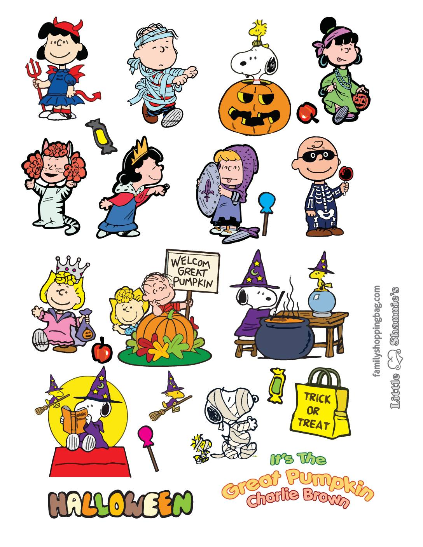 Stickers Peanuts Halloween