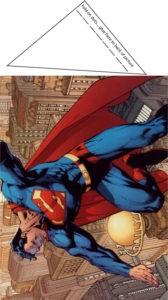 Superman Flying Table Decor