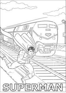 Superman and Train