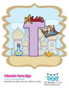 T Banner Aladdin