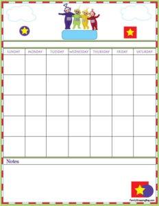 Teletubbies Calendar