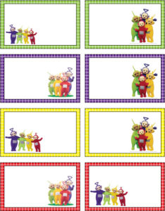 Teletubbies Gift Tags