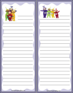 Teletubbies Grocery List