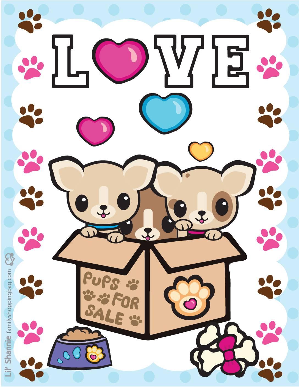 Wall Pics 3 Valentine Pups Kittens