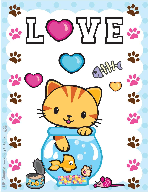 Wall Pics 4 Valentine Pups Kittens