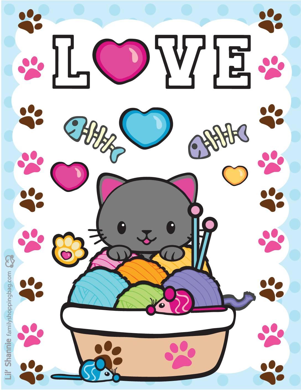 Wall Pics 5 Valentine Pups Kittens