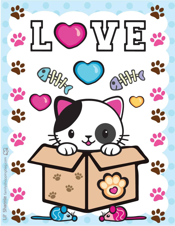 Wall Pics 6 Valentine Pups Kittens