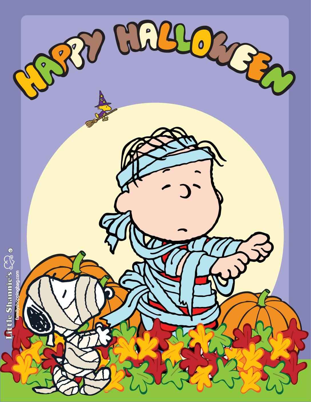 Wall Picture 2 Peanuts Halloween