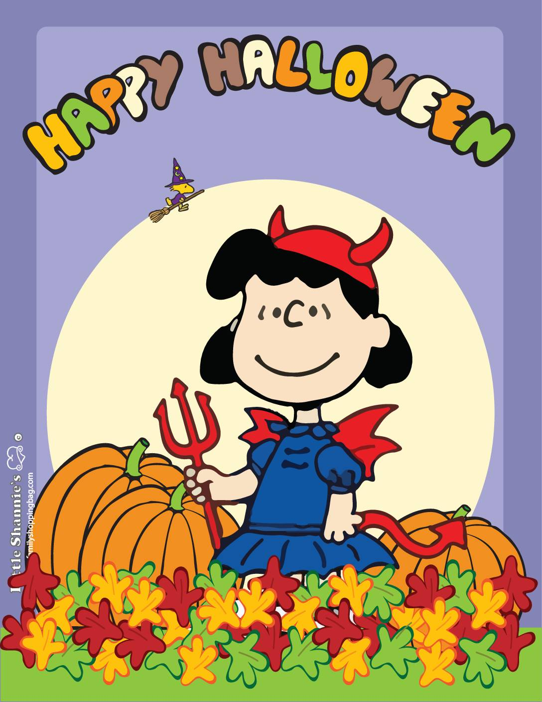 Wall Picture 4 Peanuts Halloween
