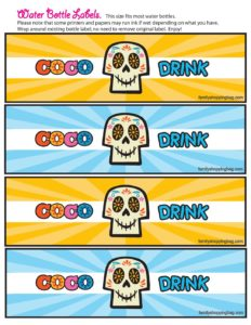 Water Bottle Labels Coco