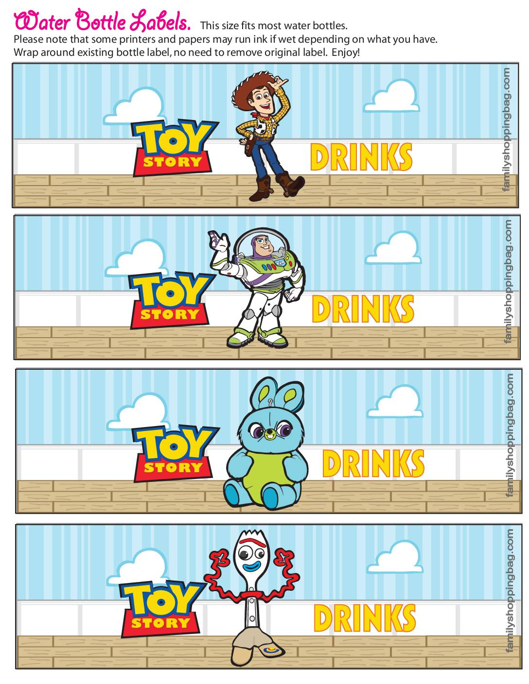 Water Label Toy Stor