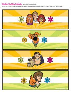 Water Labels Scooby Doo