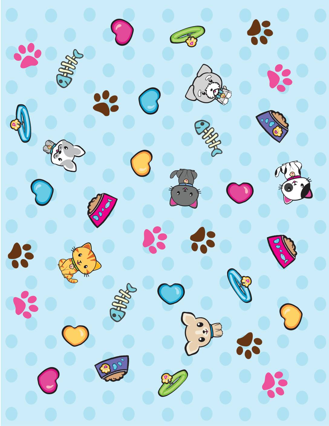 Wrap Paper Valentines Pups and KIttens