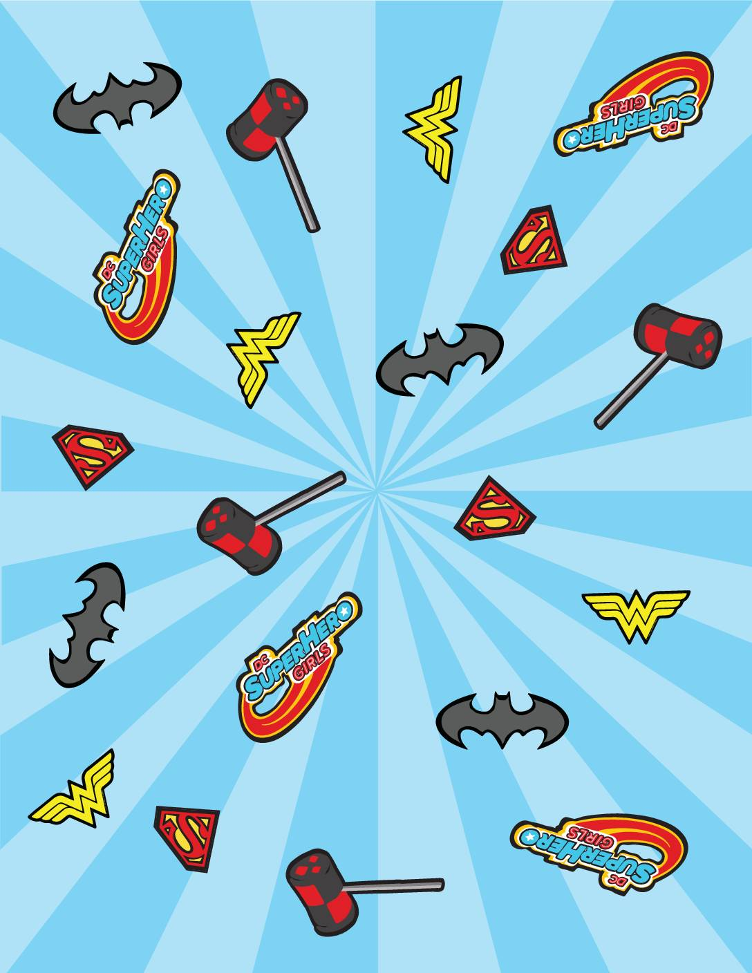 Wrapping Paper DC Super Hero Girls
