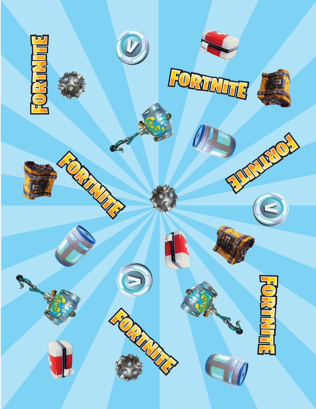 Wrapping Paper Fortnite