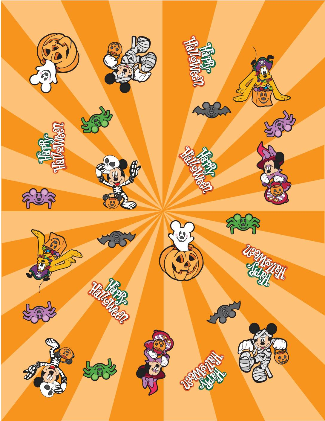 Wrapping Paper Halloween Mickey