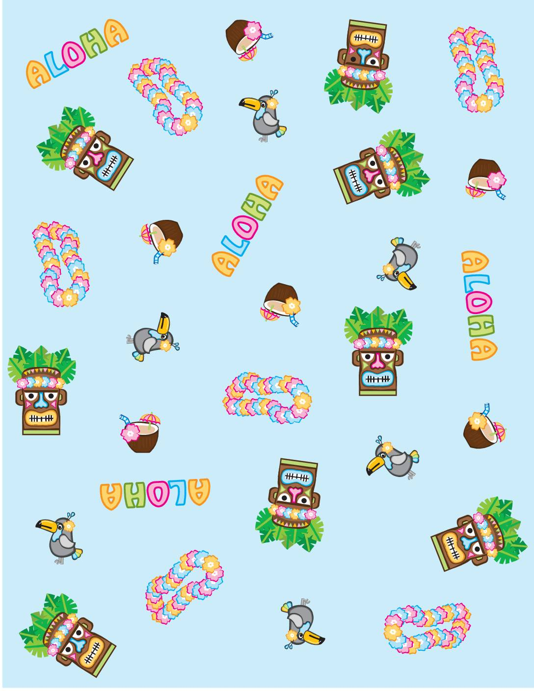 Wrapping Paper Luau