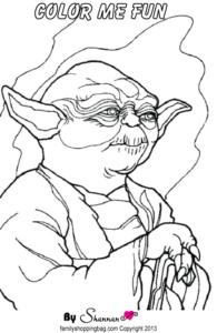 Yoda Color Page