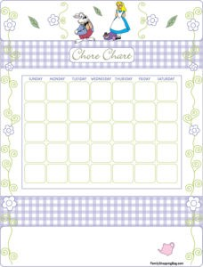 Chore Chart 1 Alice