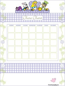 Chore Chart 2 Alice