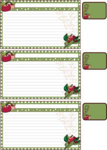 Apple Recipe Cards A