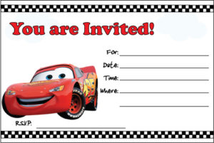 Cars Invite