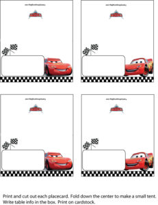 Cars Placecards