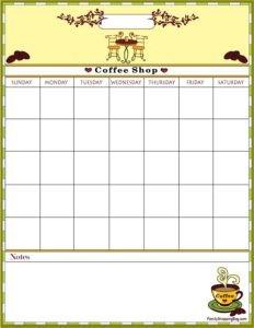 Coffee Calendar 1