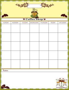 Coffee Calendar 2