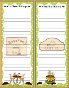 Coffee Grocery List