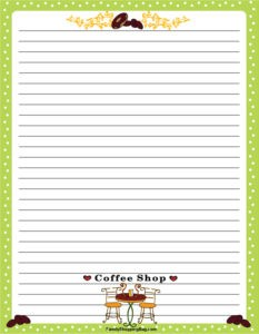 Coffee Stationery 2