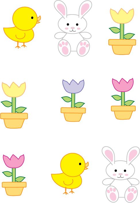Stickers Bunny Duckie
